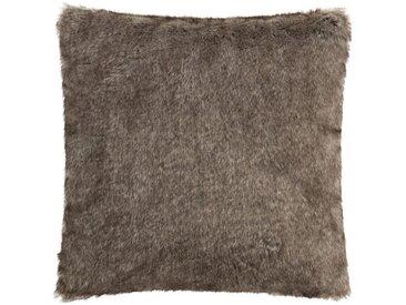Coussin polyester et acrylique marron 45x45cm Alinéa