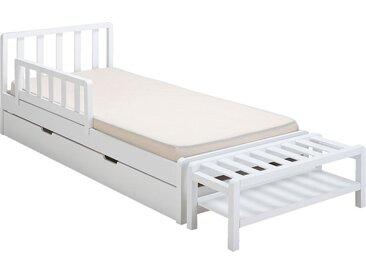 Barrière de sécurité en bois pour lit enfant - blanc - alinea