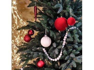 Lot de boules de Noël en plastique rouge - alinea