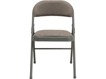 Lot de 2 chaise pliante en métal et tissu vert cèdre (prix unitaire : 25.0 euros) - alinea