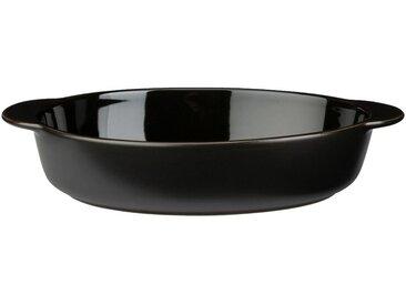 Plat à four ovale en grès noir L 27cm - alinea