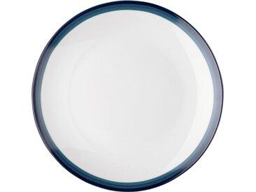 Lot de 6 assiette à dessert en porcelaine motif dégradé bleu figuerolles d19m (prix unitaire : 2.5 euros) - alinea