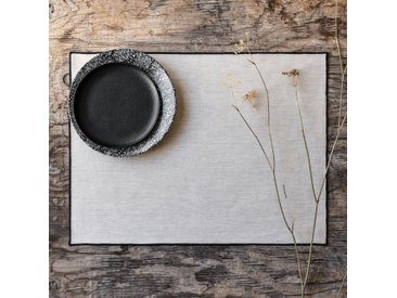 Lot de 2 sets de table en coton blanc et noir 36x48cm (prix unitaire : 2.0 euros) - alinea