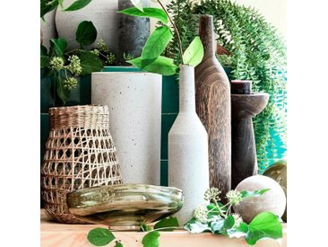 Vase bouteille en bois de paulownia H40,5cm - alinea