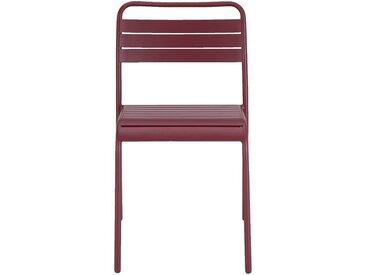 Chaise de jardin empilable en acier - rouge sumac - alinea