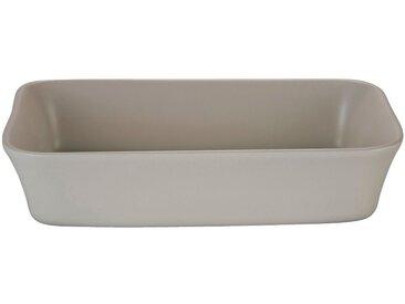 Plat à four rectangulaire en grès beige roucas 26x18cm - alinea
