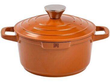 Cocotte en fonte d'aluminium orange D20cm - alinea