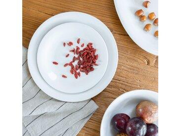 Plat de présentation ovale en porcelaine qualité hôtelière Alinéa