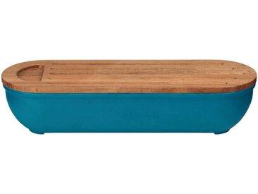 Boîte à pain en bambou bleu niolon - alinea