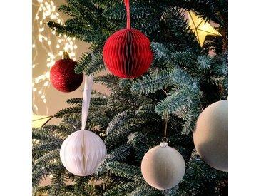 Boule de Noël en papier blanche D7cm - alinea