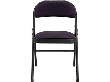Lot de 2 chaise pliante en métal et tissu noir calabrun (prix unitaire : 25.0 euros) - alinea
