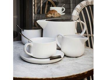 Lot de 2 tasses et sous-tasses en grès blanc 9cl - alinea