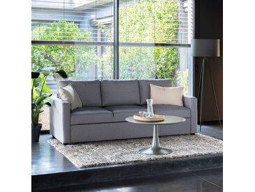 Canapé 3 places convertible en tissu gris chiné - alinea
