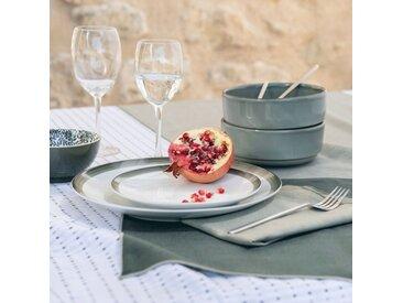 Lot de 2 sets de table en lin et coton vert cèdre 36x48cm (prix unitaire : 6.0 euros) - alinea