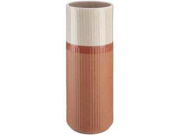Vase strié en céramique rose H44 cm Alinéa