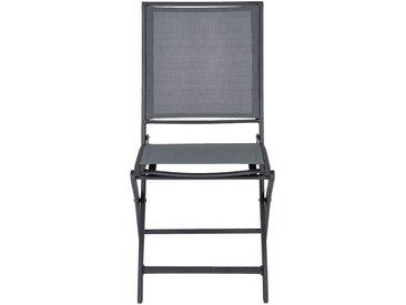Chaise de jardin pliante gris anthracite Alinéa