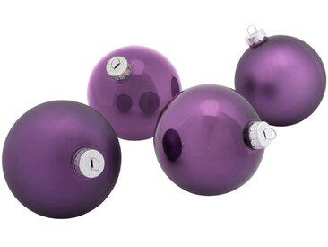 4 boules en verre violet D10cm - alinea