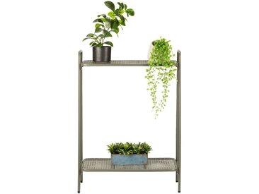 Support plante en acier vert cèdre L61xH88x34cm - alinea