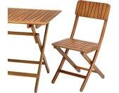 Table de jardin pliante en acacia huilée - naturel (4 à 6 places) - alinea