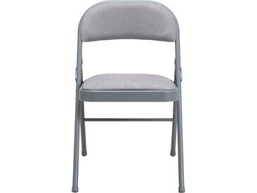 Lot de 2 chaise pliante en métal et tissu gris restanque (prix unitaire : 25.0 euros) - alinea