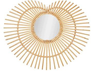 Miroir en rotin - naturel l75cm - alinea