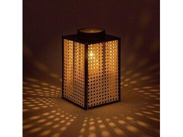 Lanterne imitation cannage H27,3cm - alinea