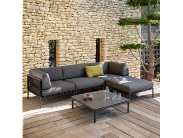 Table basse de jardin en aluminium gris anthracite - alinea
