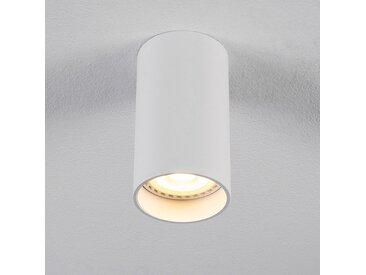 Spot LED fixe rond en aluminium H10xD5,5cm - blanc - alinea