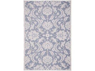 Tapis intérieur et extérieur inspiration dentelle - écru et bleu 160x230cm - alinea