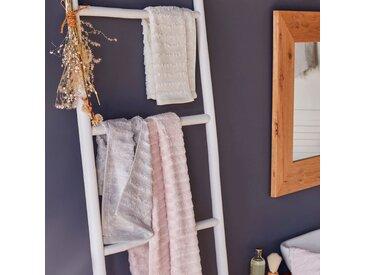 Drap de douche en viscose et coton 70x140cm blanc ventoux Alinéa