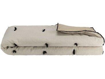 Édredon en coton et lin - blanc écru 100x180cm - alinea