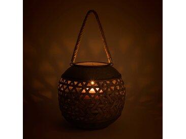 Lanterne en bambou et zinc D31xH28cm - alinea