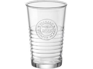 Lot de 6 verres transparent avec stries 30cl (prix unitaire : 2.0 euros) - alinea