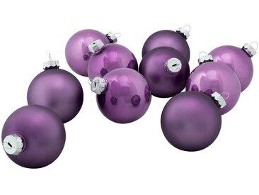 10 boules de Noël en verre violet D6cm - alinea