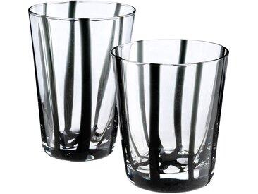 Lot de 6 verre à eau - noir d8xh11cm (prix unitaire : 5.0 euros) - alinea