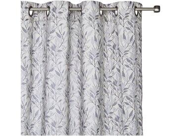 Voilage à oeillets en coton motif floral 140x250cm - alinea