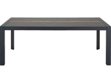 Table de jardin en duraboard et aluminium - noir (8 places) - alinea