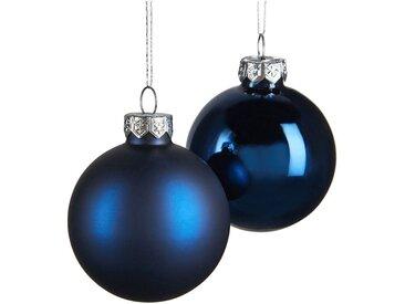 Boules en verre bleu 10 pièces D6cm - alinea