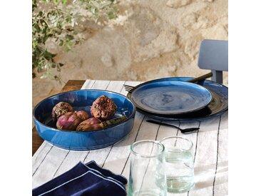 Lot de 6 assiettes plate en faïence bleu figuerolles d27cm (prix unitaire : 5.0 euros) - alinea