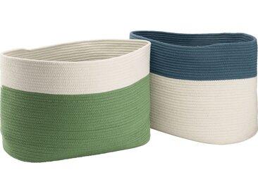 Panier De Rangement Bicolore - Vert L55xl30xh35cm - alinea