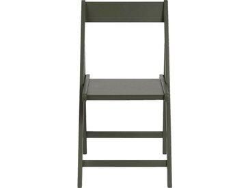 Lot de 2 chaise pliante en bois plaqué vert cèdre (prix unitaire : 35.0 euros) - alinea