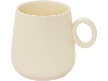 Lot de 2 mugs en porcelaine beige mat avec anse (prix unitaire : 5.0 euros) - alinea