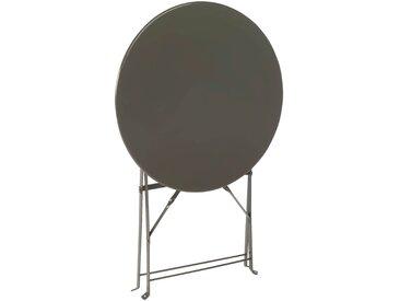 Table de jardin pliante taupe D60cm (2 places) - alinea
