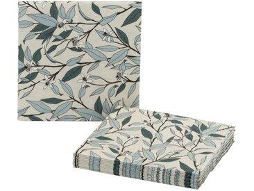 Lot de 20 serviettes en papier à motif fleur d'oranger 33x33cm - alinea