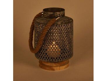 Lanterne en métal perforé H24cm - alinea