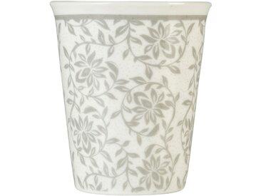 Lot de 6 tasses en porcelaine gris borie motif jasmin 9cl - alinea