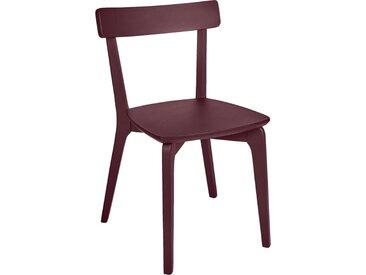 Lot de 2 chaise en bois - rouge sumac (prix unitaire : 79.0 euros) - alinea