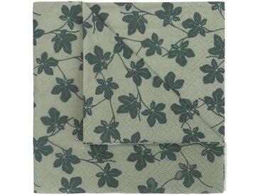 Lot de 20 serviettes en papier vert olivier décoré 33x33cm - alinea