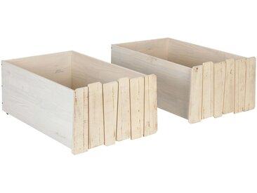 2 tiroirs de lit à roulettes en pin massif - alinea