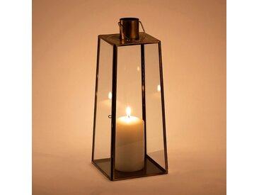 Lanterne en métal et verre - doré - H32cm - alinea